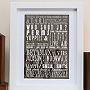 Personalised 'My Favorite Decade' Print