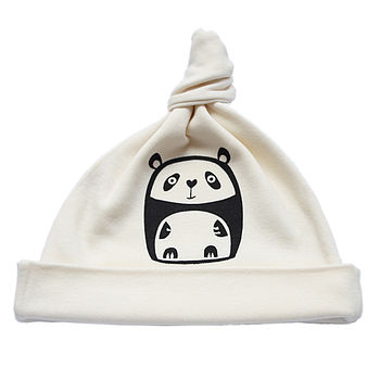 Panda Organic Cotton Baby Hat