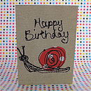 'Happy Birthday' Snail Card