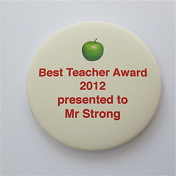 Best Teacher Award Personalised Magnet Card