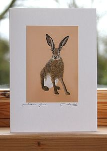 'Brown Hare' Greeting Card