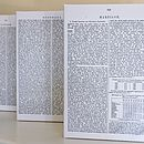 Personalised Encyclopedia Page Canvas