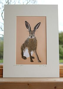 'Brown Hare' Mounted Print