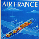 Framed Original Air France Travel Poster