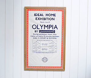 Framed Original Ideal Home Poster - home accessories