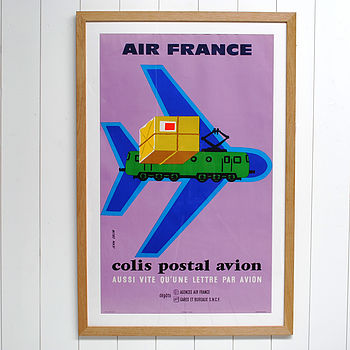 Original 1950's Air France Travel Poster