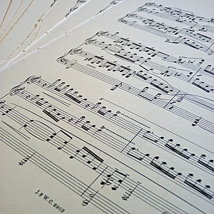 Vintage Sheet Music For Wedding Styling