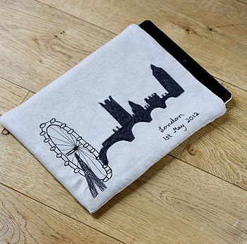 Personalised Skyline Sleeve For Ipad