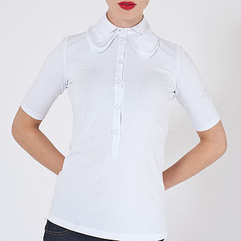 Sofia Triple Collar Jersey Top