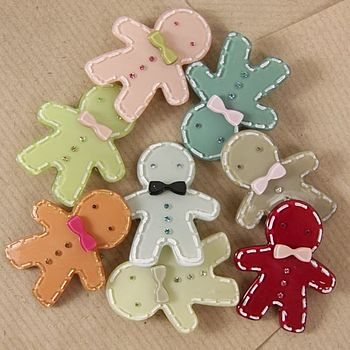 Small Gingerbread Man Brooch