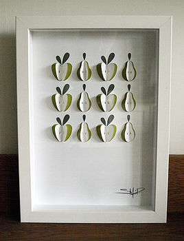 Apples And Pears Hand Crafted Paper Art