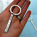 Father's Day gift Handmade Silver Keyring