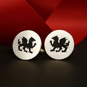Wales Cutout Cufflinks - men's jewellery