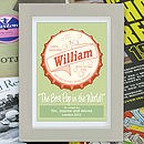 Best Pop Personalised Fathers Day Print