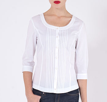 Antonia Cotton Three Quarter Length Shirt