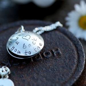 Love You To The Moon Personalised Silver Locket