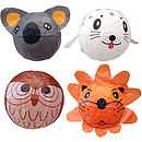 Koala.white seal,owl,lion