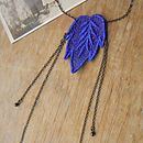 Vintage Style Lace Leaf Necklace
