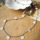 Lace Daisy Chain Necklace