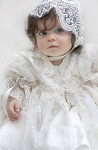 Christening Gown And Bonnet 'Amelia' - christening wear