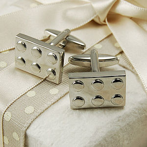 Building Block Cufflinks - men's jewellery