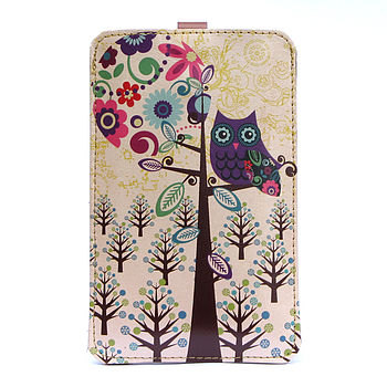 Owl Leather Phone Case