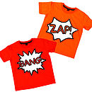Green, Orange Or Red Comic T Shirt Set