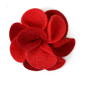 Dahlia Flower Felt Brooch - pins & brooches