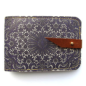 Lace Leather Card Case - bags & purses