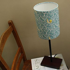 Little Owl And Winter Moon Lampshade - children's lighting
