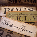 Personalised Rustic Wooden Signs