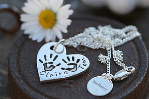 Personalised Handprint Heart Necklace