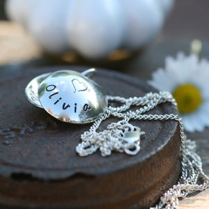 Personalised Lucy Silver Locket - for children