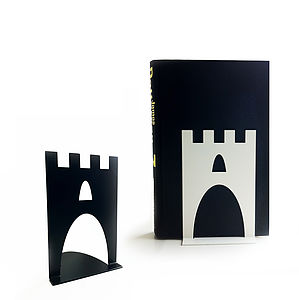 Pair Of Castle Bookends - living room