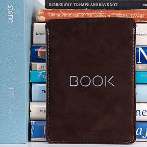 Suede 'Book' Motif Case For Kindle - tech accessories for her