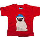 Boy's Pug Applique T Shirt