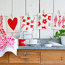 Set Of Red Dish Cloths