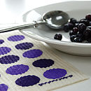 Set Of Purple Dish Cloths