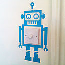 Robot Light Switch Vinyl Wall Sticker