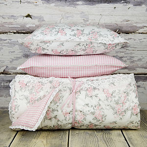 Girls Quilted Reversible Throw - soft furnishings & accessories