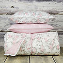 Girls Quilted Reversible Throw And Cushions