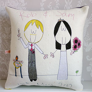 Personalised Wedding Gift Cushion - living room