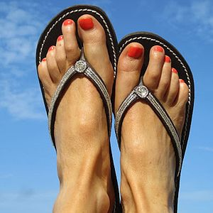 Classic Silver Flip Flops - accessories sale