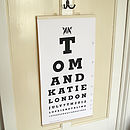 Personalised Couple Eye Test Chart