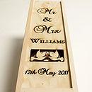 Mr & Mrs Personalised Bottle Box