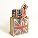 Hessian Union Jack Gift Bag