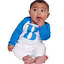Personalised Alphabet Baby Grow