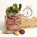 Red Union Jack Hessian Sack