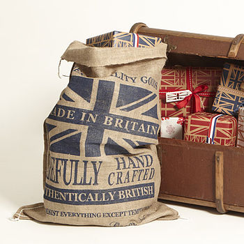 Blue Union Jack Gift Sack Large