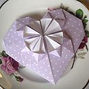 Lilac Origami Heart Thank You Card